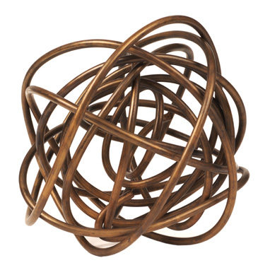 F-Brass Wire Sphere 6 inch