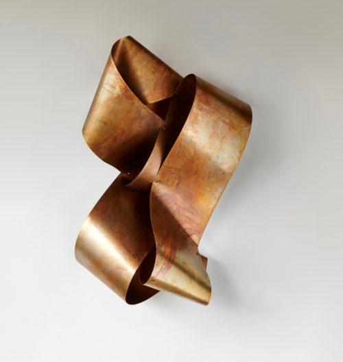 Undulating 45 Brass Sculpture - Cropped2