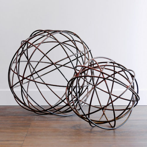 Wire Balls Steel Rusted