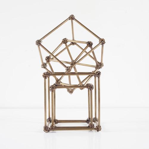 cube art brass wire wrap 4