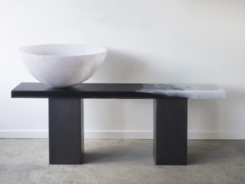 giant pacific bowl and console with steel legs2