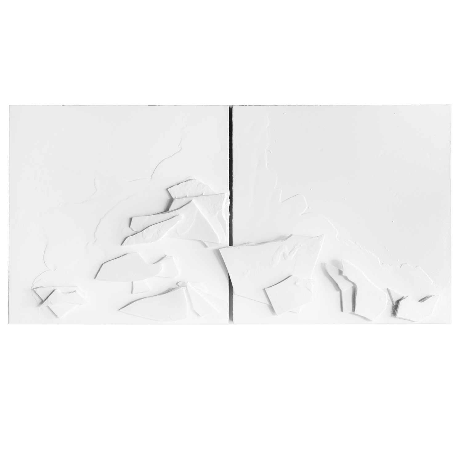 "#402 Break Up (diptych), 41"" x 41"" (x2)"