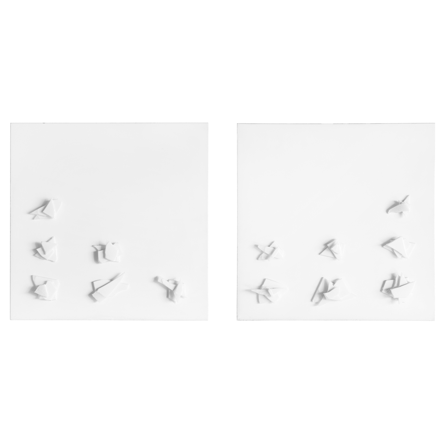 "#397 Break Up (Diptych), 42"" x 42"" (x2)"