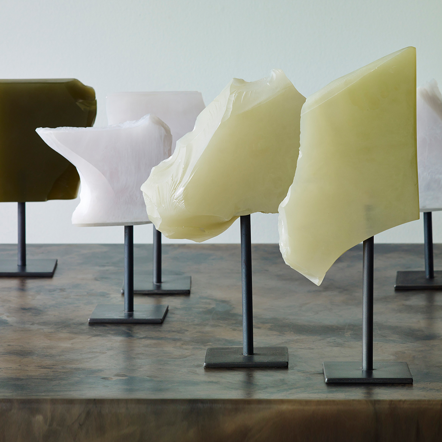 Fracture Sculptures, various sizes, available colours: Olive, Moss